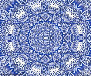 Blaue Blume mandala puzzle