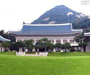 Blaues Haus, Seoul, Südkorea puzzle