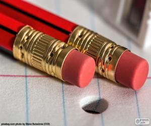 Bleistifte mit Radiergummi puzzle