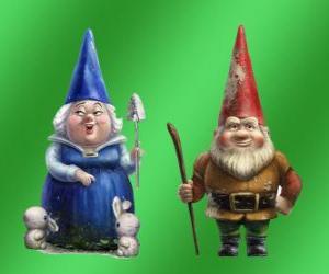 Blueberry Lady und Lord Gnomeo Mutter Redbrick Vater von Julia und die Führer der beiden rivalisierenden Gärten puzzle
