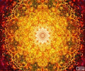 Blume des Lebens-mandala puzzle