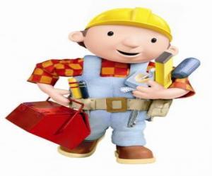 Bob der Baumeister mit seinen Werkzeugen puzzle