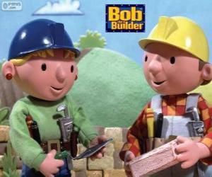 Bob der Baumeister und seine Partnerin Wendy Organisation der Arbeit des Tages puzzle