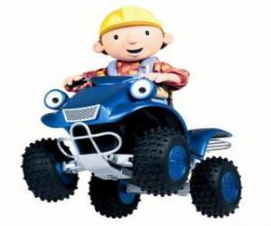 Bob und Scrambler, dem Quad oder ATV puzzle