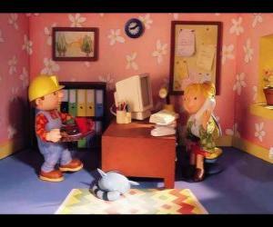 Bob und Wendy arbeiten im büro puzzle