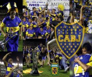 Boca Juniors, Meister für den Turnier Apertura 2011, Argentinien puzzle