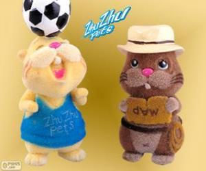 Bodo von der Hermannsklause mit dem Hut und der Gürtel mit einem anderen hamster von Zhu Zhu Pets puzzle