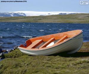 Boot an der norwegischen Küste puzzle