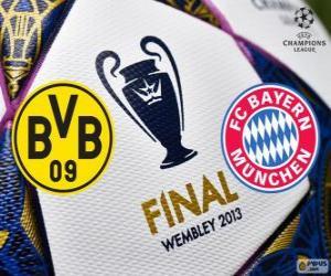 Borussia Dormunt vs FC Bayern München. Final UEFA Champions League 2012-2013. Wembley Stadium, London, Großbritannien puzzle