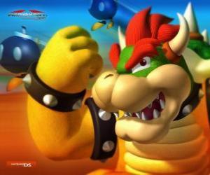 Bowser oder King Koopa, der Hauptfeind in Mario Spiele puzzle