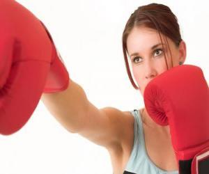 Boxen - Gesicht eines boxer puzzle