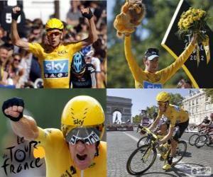 Bradley Wiggins Sieger der Tour de France 2012 puzzle