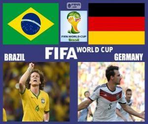 Brasilien - Deutschland, Halbfinale, Brasilien 2014 puzzle