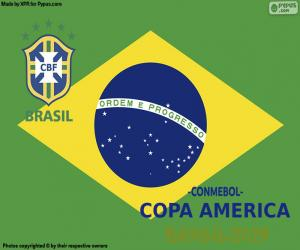 Brasilien, Meister Copa America 2019 puzzle