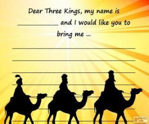 Brief an die Heiligen drei Könige puzzle