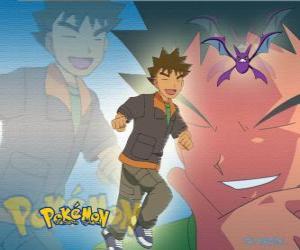 Brock, ursprünglich war der Führer der Pewter City Gym (Zinn), spezialisiert in der Rock-Typ Pokémon. puzzle