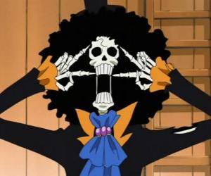 Brook Summender Schwertmeister, ein Musiker-Skelett aus One Piece puzzle