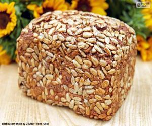 Brot der Sonnenblumen-Samen puzzle