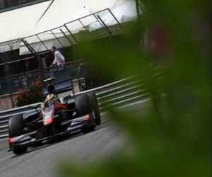 Bruno Senna-HRT - Monte-Carlo 2010 puzzle