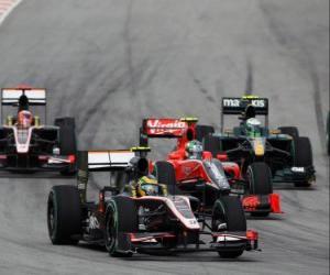 Bruno Senna - HRT - Sepang 2010 puzzle