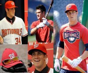 Bryce Harper Baseballspieler Washington Nationals puzzle