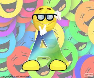 Buchstabe A der smiley puzzle