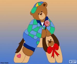 Buchstabe A des Bären puzzle