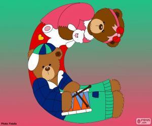 Buchstabe C des Bären puzzle