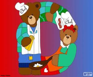 Buchstabe D des Bären puzzle