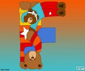 Buchstabe F des Bären puzzle