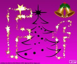Buchstabe F für Weihnachten puzzle