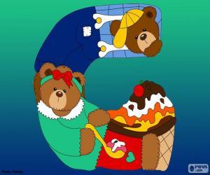 Buchstabe G des Bären puzzle