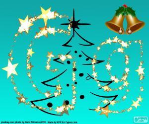 Buchstabe G ein Buchstabe Weihnachten puzzle