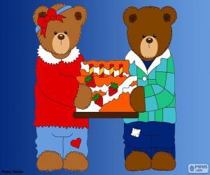 Buchstabe H des Bären puzzle