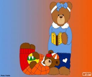 Buchstabe J der Bären puzzle