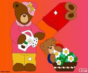Buchstabe K der Bären puzzle