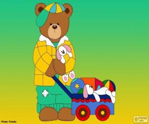 Buchstabe L des Bären puzzle