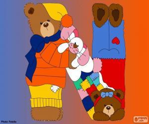 Buchstabe N der Bären puzzle