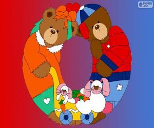 Buchstabe O des Bären puzzle