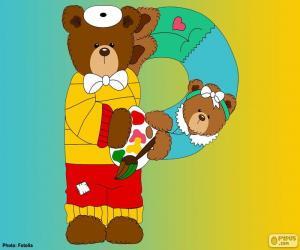 Buchstabe P der Bären puzzle