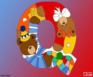 Buchstabe Q der Bären puzzle