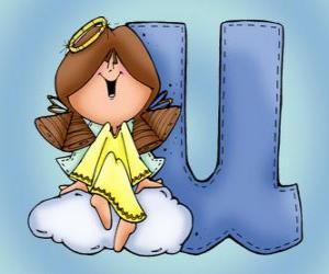 Buchstabe U mit einem Engel puzzle