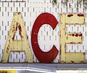 Buchstaben A, C und E puzzle
