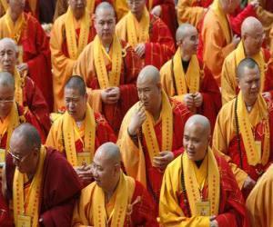 Buddhistische mönche puzzle
