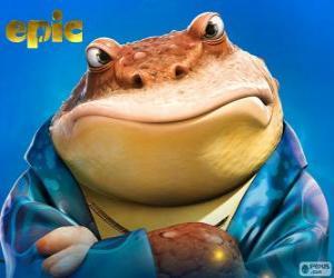 Bufo, ein Frosch, ein Geschäftsmann in die geheime Welt der puzzle