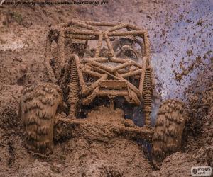 Buggy 4 x 4 im Schlamm puzzle