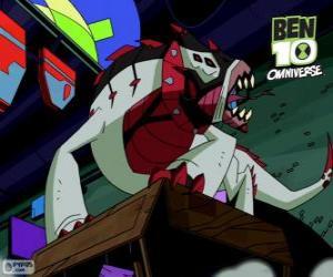 Buglizard ist ein Nemetrix-Alien, Ben 10 Omniverse puzzle