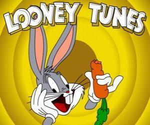 Bugs Bunny, der Hase Held der Abenteuer von Looney Tunes puzzle