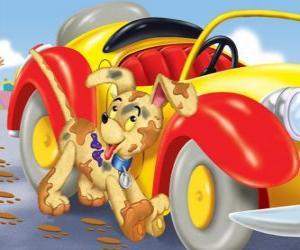 Bumpy Dog begleitet Noddy auf seinen Abenteuern puzzle