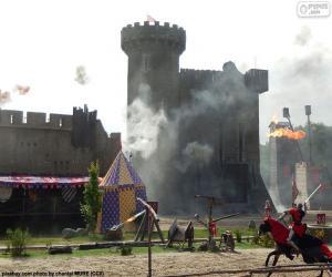 Burg des Mittelalters puzzle